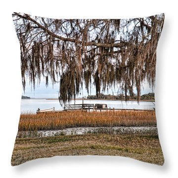 Winter High Tide Throw Pillow