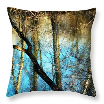 Winter Hike Throw Pillow