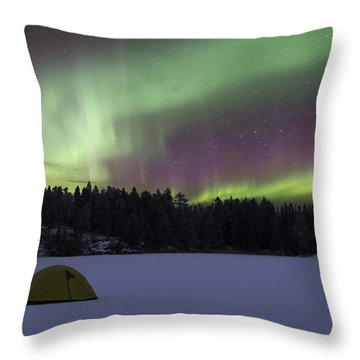 Winter Holiday Scene Throw Pillow