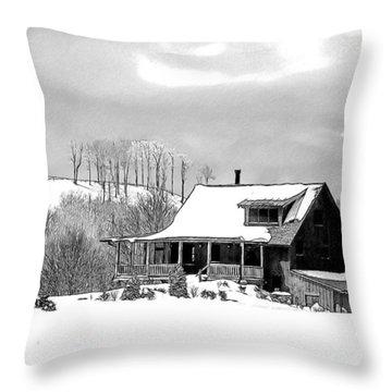 Winter Home Throw Pillow by John Haldane