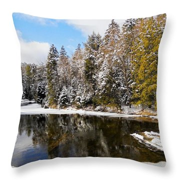 Throw Pillow featuring the photograph Winter Impressions ... by Juergen Weiss
