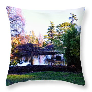 Winter In Beacon Hill Park Victoria Bc Throw Pillow