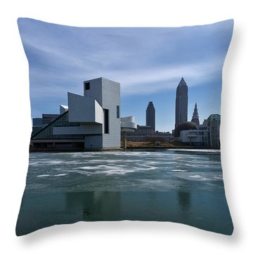 Winter In Cleveland Throw Pillow by Dale Kincaid