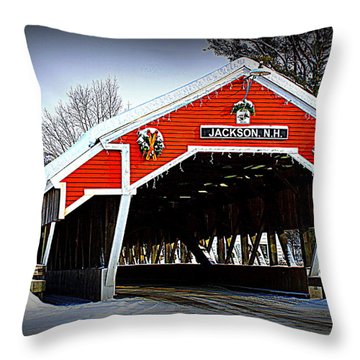 Winter In Jackson Throw Pillow