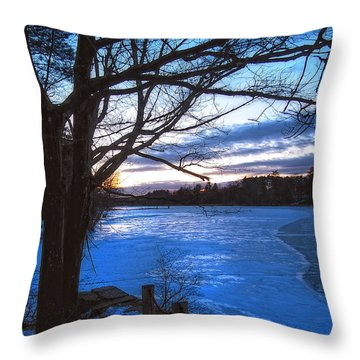Winter In New Hampshire Throw Pillow by Joann Vitali