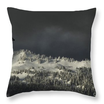 Winter In North Cascades Throw Pillow by Yulia Kazansky