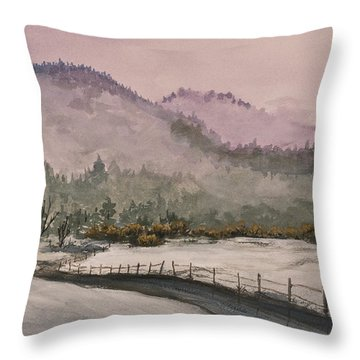 Winter In Quincy Throw Pillow