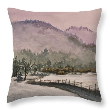 Winter In Quincy Throw Pillow
