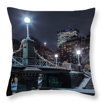 Winter In The Garden Throw Pillow