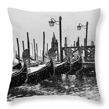 Winter In Venice Throw Pillow