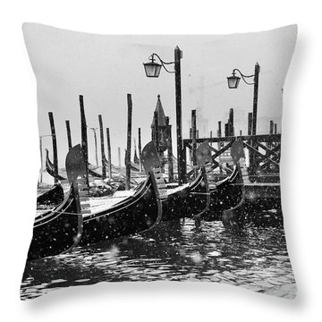 Winter In Venice Throw Pillow