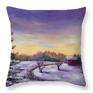 Winter In Vermont Throw Pillow by Anastasiya Malakhova