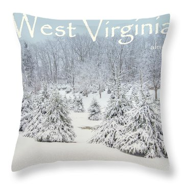 Winter In West Virginia Throw Pillow by Benanne Stiens