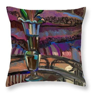 Throw Pillow featuring the digital art Winter Interior by Clyde Semler