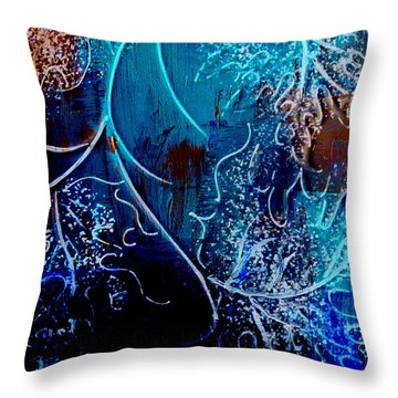 Throw Pillow featuring the mixed media Winter Is Coming by Irina Hays
