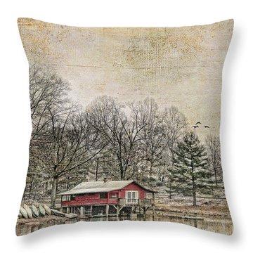 Winter Lake Throw Pillow by Darren Fisher