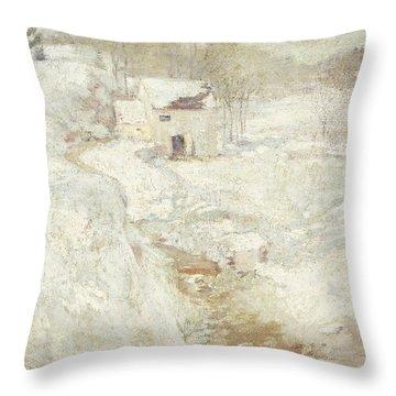 Winter Landscape Throw Pillow by John Henry Twachtman