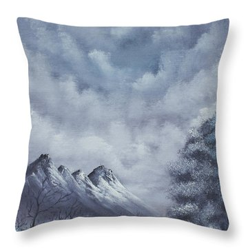 Winter Landscape Throw Pillow by Troy Wilfong