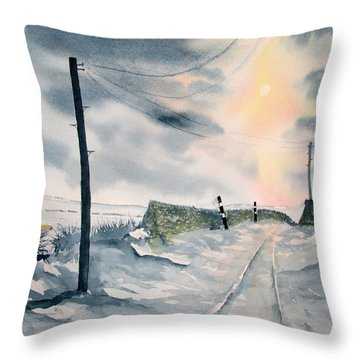 Winter Light On Westerdale Throw Pillow