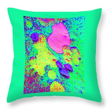Winter London Plane Tree Abstract 2 Throw Pillow