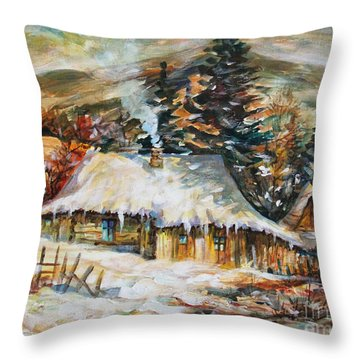 Winter Magic Throw Pillow