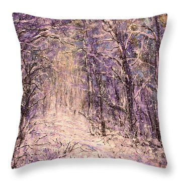 Winter Magic Throw Pillow by Natalie Holland