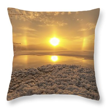 Throw Pillow featuring the photograph Winter Magic by Rose-Maries Pictures