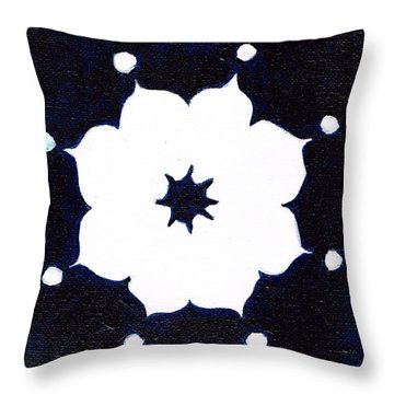 Winter Mandala Throw Pillow