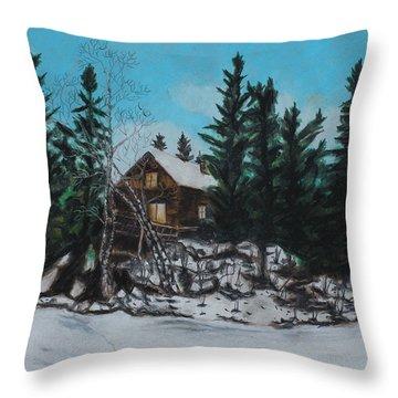Winter Marshland Throw Pillow
