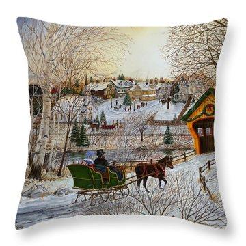 Winter Memories 1 Of 2 Throw Pillow