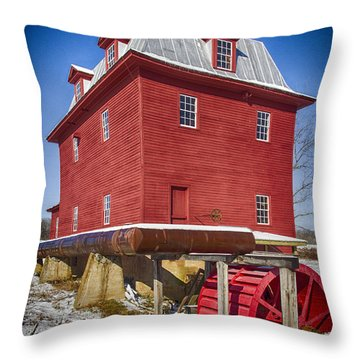 Winter Mill Throw Pillow