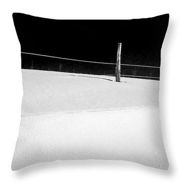 Winter Minimalism Black And White Throw Pillow