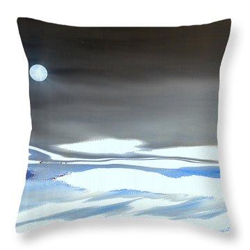 Winter Moonlight Throw Pillow by Yul Olaivar