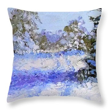 Throw Pillow featuring the painting Winter Morn by Fred Wilson