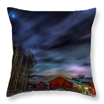 Throw Pillow featuring the photograph Winter Night by Rose-Maries Picturtes