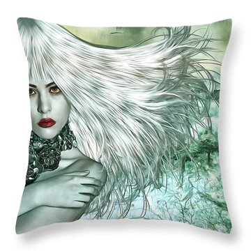 Throw Pillow featuring the digital art Winter by Nola Lee Kelsey