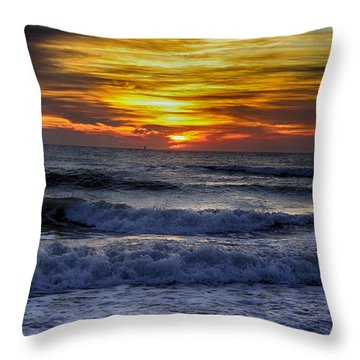 Winter North Carolina Sunrise Throw Pillow by Tony Cooper