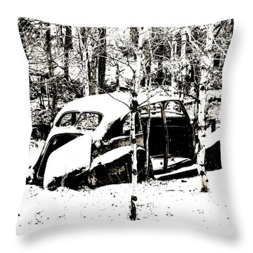 Winter Olds Throw Pillow