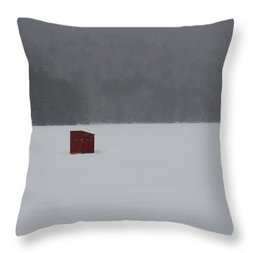 Winter On Chororua Lake Throw Pillow