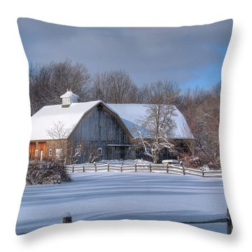 Winter On The Farm 14586 Throw Pillow