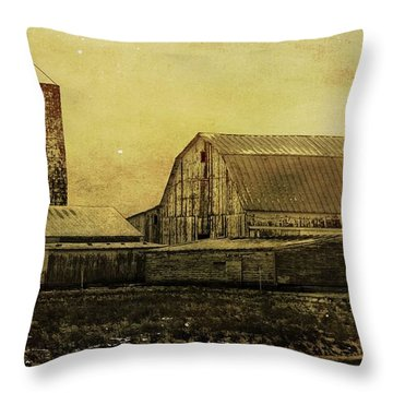 Winter On The Farm Throw Pillow