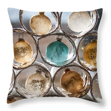 Winter Ornaments Of The Past Throw Pillow