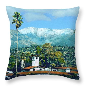 Winter Paradise Santa Barbara Throw Pillow