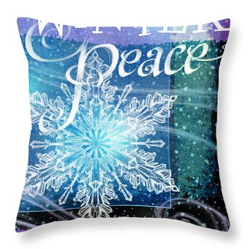 Winter Peace Greeting Throw Pillow