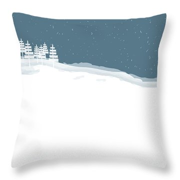 Winter Pines Throw Pillow by Kevin McLaughlin