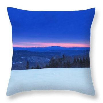 Throw Pillow featuring the photograph Winter Pink Horizon by Tom Singleton