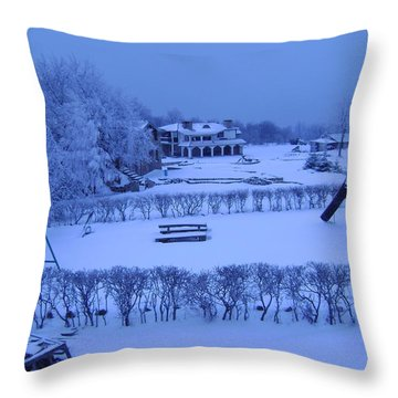 Winter Playground Throw Pillow