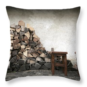 Winter Preparations Throw Pillow by Colleen Williams