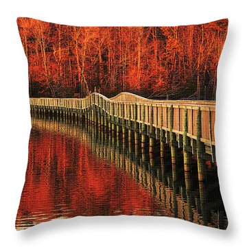 Throw Pillow featuring the photograph Winter Reds by Ola Allen