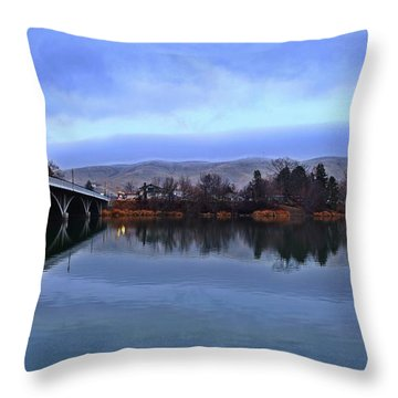 Throw Pillow featuring the photograph Winter Reflection by Lynn Hopwood